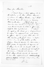 1 page written by Sir William Fox, from Papers relating to general government - Memoranda from Premier and Cabinet