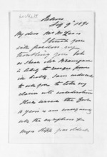 4 pages written 9 Feb 1871 by Captain John Lockett in Nelson Region to Sir Donald McLean, from Inward letters - Surnames, Loc - Log