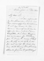 3 pages written 6 Dec 1851 by John Valentine Smith in Wellington to Sir Donald McLean, from Inward letters - Surnames, Smith