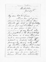 2 pages written by Captain Harvey Spiller to Sir Donald McLean, from Inward letters - Surnames, Spe - Sta