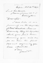 1 page written 30 Oct 1873 by an unknown author in Napier City to Colonel William Moule, from Inward letters - Surnames, Bla - Bol