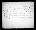 2 pages to New Plymouth District, from Correspondence and other papers in Maori