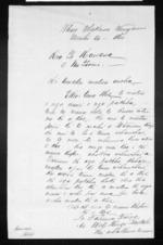 Tehana Turoa, Metekingi Paetahi to the Gore Browne - 1 page, related to Sir Thomas Robert Gore Browne, Mete Kingi Te Rangi Paetahi, Tahana Turoa, Wanganui and Whanganui, from Inward letters in Maori