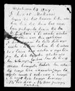 Letter from Hone Pumipi to McLean - 2 pages written 6 Sep 1849 by Hone Pumipi in Harihari to Sir Donald McLean, related to Wairarapa, Ngati Kahungunu ki Wairarapa, Muaupoko, Rangitane, from Inward letters in Maori