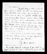 Letter from Hoani Ropiha to McLean - 2 pages, related to Hoani Ropiha Pikiwera, Wairarapa and Ngati Raukawa ki te Tonga, from Inward letters in Maori
