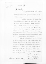 2 pages written 1 Dec 1860 by Sir Donald McLean, from Secretary, Native Department -  Administration of native affairs