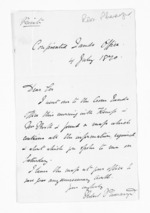 1 page written 4 Jul 1870 by Robert Pharazyn, from Inward letters - Surnames, Pet - Pic