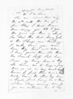 2 pages written 27 Jun 1868 by W Lockwood to Sir Donald McLean, from Inward letters - Surnames, Loc - Log