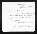 Letter from Waata Kukutai to Herangi - 1 page written 5 Apr 1861 by Waata Pihikete Kukutai, related to Onehunga, Ngati Tipa (Tainui), from Inward letters in Maori