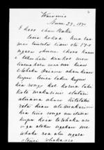 Letter from Maihi P Kawiti to Hauraki - 2 pages, related to Te Waka Te Puhi Hauraki, Maihi Paraone Kawiti, Auckland City, Ngapuhi and Ngati Hine (Ngapuhi), from Inward letters in Maori