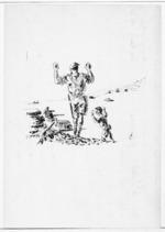 Capture at Ruweisat Ridge, 15 July 1942 - Sketch by Nevile Lodge