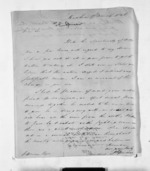 3 pages written 17 Mar 1846 by J E Spencer to Sir Donald McLean, from Inward letters - Surnames, Spe - Sta