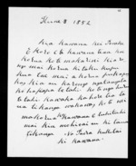 Letter from Paora Kukutai to George Grey - 2 pages written 8 Jun 1852 by Paora Kukutai to Sir George Grey in  and Port Nicholson, related to Waikato Region, Ngati Tipa (Tainui), from Inward letters in Maori