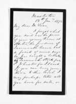 2 pages written 13 Jan 1872 by John Valentine Smith in Masterton to Sir Donald McLean in Wellington, from Inward letters - Surnames, Smith
