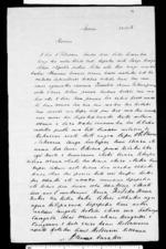 Letter from Arama Karaka to George Grey - 1 page, related to Sir George Grey, Arama Karaka, Auckland City, Ngati Mahanga (Tainui) and Ngati Tai, from Inward letters in Maori