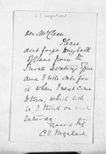 1 page to Sir Donald McLean, from Inward letters - Surnames, Und - Viv