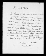 Letter from Paora Kukutai to McLean - 1 page written 8 Jun 1852 by Paora Kukutai to Sir Donald McLean, related to Waikato Region, Ngati Tipa (Tainui), from Inward letters in Maori
