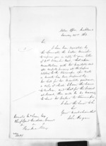 1 page written 22 Jan 1863 by John Rogan in Auckland Region to Sir Donald McLean, from Inward letters - John Rogan