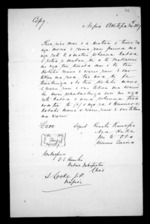 2 pages written 24 Oct 1867 by Renata Tama-ki-Hikurangi Kawepo in Napier City, from Correspondence and other papers in Maori