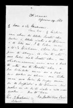 Letter from Mitai Penetaui to McLean - 1 page, related to Mitai Penetaui, Auckland City, Ngapuhi, Ngati Maru (Tainui) and Ngati Whatua, from Inward letters in Maori