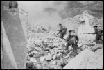 Soldiers during manoeuvres on the Cassino battlefront, Italy - Photograph taken by George Kaye