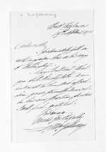 1 page written 19 Sep 1870 by Lauchlan McGillivray, from Inward letters - Surnames, Macfar - McHar