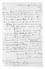 1 page written 25 Mar 1863 by an unknown author in Napier City to Auckland Region, from Hawke's Bay.  McLean and J D Ormond, Superintendents - Finance papers