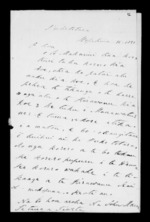 Letter from John Mason to McLean - 2 pages written 16 Sep 1850 by John Mason in Puketotara to Sir Donald McLean, related to Otorohanga, Ngati Maniapoto, Whanganui, from Inward letters in Maori