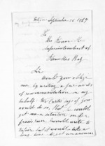 4 pages written 25 Sep 1867 by Henry MacGuire in Nelson Region to Sir Donald McLean in Hawke's Bay Region, from Inward letters - Surnames, Macfar - McHar