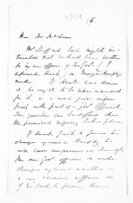 2 pages to Sir Donald McLean, from Papers relating to general government - Memoranda from Premier and Cabinet