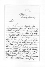4 pages written by E T Brissenden to Sir Donald McLean, from Inward letters - Surnames, Bra - Bro