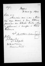 1 page, from Correspondence and other papers in Maori