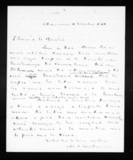 Draft letter from McLean to Te Raihi - 3 pages, related to Te Raihi 1870s, Auckland City, Ngapuhi and Ngati Whatua, from Inward letters in Maori