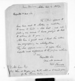 2 pages written 19 Oct 1857 by Rev Thomas Skinner to Sir Donald McLean, from Inward letters - Surnames, Sin - Sma