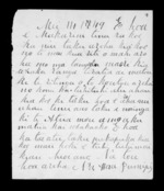 Letter from Hone Pumipi to McLean - 2 pages written 14 May 1849 by Hone Pumipi to Sir Donald McLean, related to Taranaki Region, Taranaki (Taranaki Iwi), from Inward letters in Maori