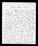 Letter from Te Wherowhero to McLean - 3 pages, related to Heta Te Wherowhero, Waitemata Harbour, Manukau Harbour and Ngati Mahanga (Tainui), from Inward letters in Maori