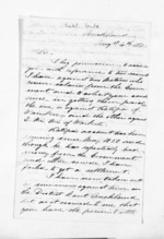 3 pages written 4 Aug 1860 by Robert Vaile in Auckland City to Sir Donald McLean, from Inward letters - Surnames, Und - Viv
