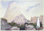 Fox, William  1812-1893 :Cap of Liberty.  Yosemite.  4600 f[ee]t  high, 500 f[ee]t less than 1 mile.  [California, U.S.A., 1875?]