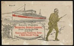 Souvenir programme. Patriotic sports carnival. Domain, Saturday July 3rd 1915 in aid of the Auckland Hospital Ship & War Relief Fund. Price 6d. [Front cover. 1915]