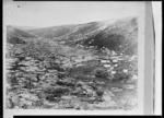 View of the gold mining camp at Gabriels Gully, Tuapeka