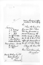 1 page written 29 Mar 1859 by Thomas Smith in Auckland City to Sir Donald McLean in Taranaki Region, from Secretary, Native Department - Administration of native affairs