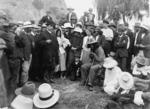 Rua Kenana Hepetipa meeting with Joseph George Ward on the beach at Whakatane