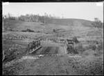 The Black Bridge, Te Mata, near Raglan, 1910 - Photograph taken by Gilmour Brothers