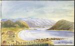Medley, Mary Catherine (Taylor), b. 1835 :Plimmerton; Towards Porirua, showing old Plimmerton House. [1895]