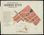 Plan of first subdivision of the Cashmere Estate (Khandallah)