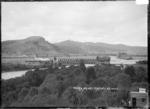 The Punga Bridge (railway bridge) over the Wanganui River, at Manunui