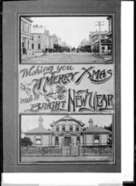 Two views of Hawera; High Street and, The court house