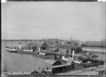 View of the wharves and shipping, Auckland