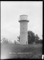 Water tower at Cambridge, circa 1913-1915
