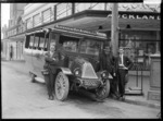 Blockhouse Bay, Avondale and Pitt Street bus and driver, Auckland